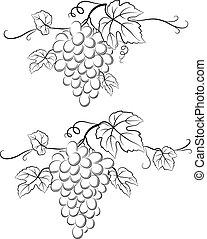 Grapes Black Pictograms
