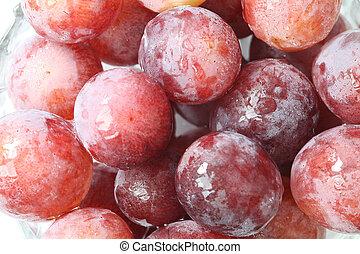 Grapes closeup macro background