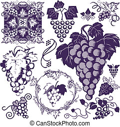 Grapes Collection - Clip art collection of grapes and grape...