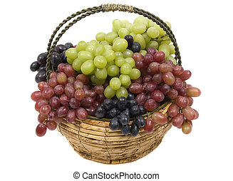 Grapes - Colorful grapes in a basket