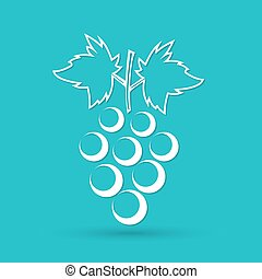 Grapes icon on a blue background