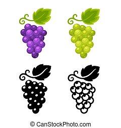 Grapes icon set