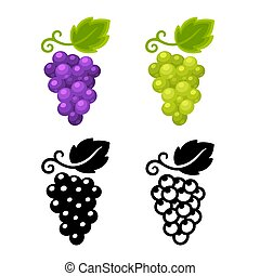 Grapes icon set