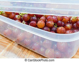grapes in a box
