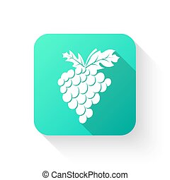 Grapes in a flat style. The icon, symbol of fruit