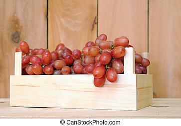 grapes in crate