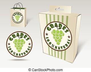 Grapes label concept