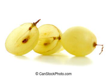 Grapes macro - Extreme macro of fresh cut grape berries with...