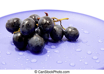 grapes on a plate