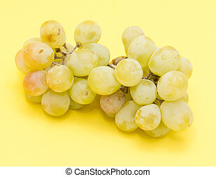 grapes on a yellow background