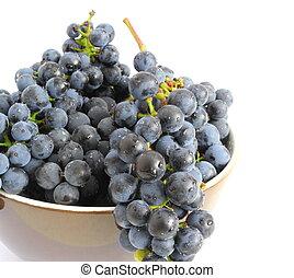 grapes over white