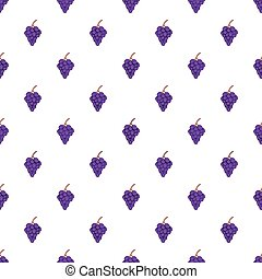 Grapes pattern, cartoon style