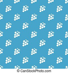 Grapes pattern vector seamless blue