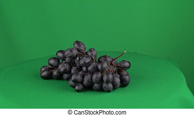 Grapes Rotating in Green Screen Chroma Key Matte