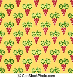 Grapes Seamless Pattern.