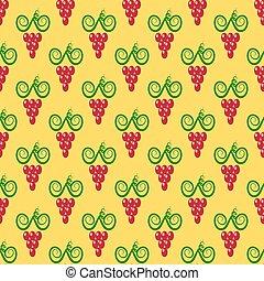 Grapes Seamless Pattern.