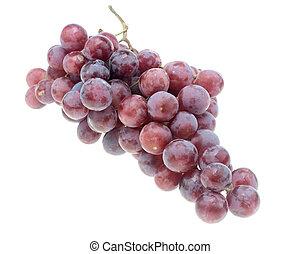 grapes., sfondo nero, isolato, bianco
