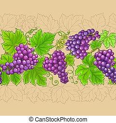 grapes vector horizontal pattern