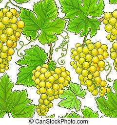 grapes vector pattern