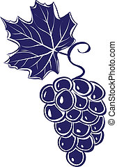 grapes., vektor, abbildung, bündel
