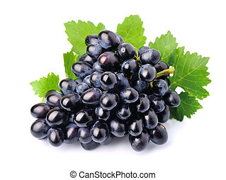 Grapes with leafs
