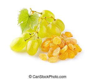 Grapes with raisins