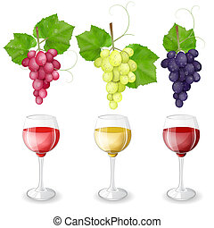 Grapes with wine glasses