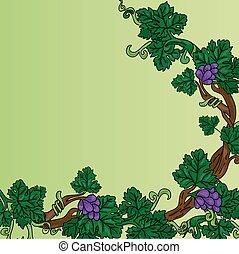 Grapevine corner frame