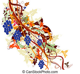 grapevine, harvest background