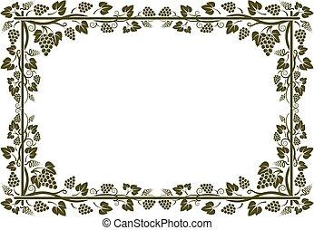 grapevine - silhouette of grapevine frame