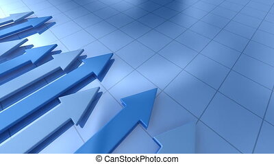 Business graph with arrow