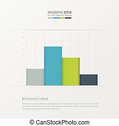 graph and infographic design   Green, blue, gray color