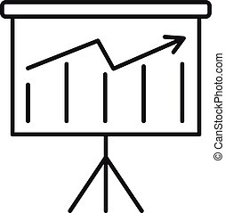 Graph banner icon, outline style
