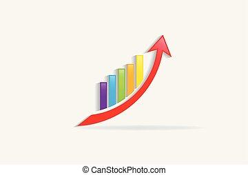 Graph bar business sales growing logo