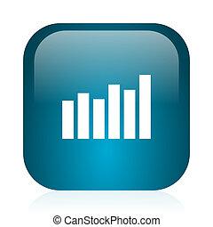 graph blue glossy internet icon