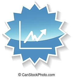 Graph blue icon