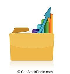 graph, brochuren, inderside