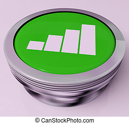 Graph Button Means Data Analysis Or Statistics