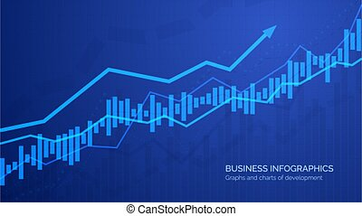 Graph chart of stock market investment trading. Monitoring finance profit and statistic. Abstract analisys and statistic diagram. vector illustration