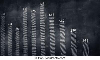graph chart on blackboard loopable