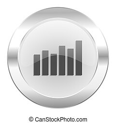 graph chrome web icon isolated