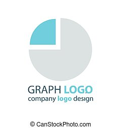 graph Circle logo vector blue