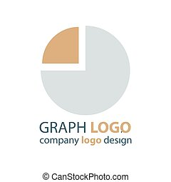 graph Circle logo vector brown
