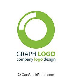 graph Circle logo vector green