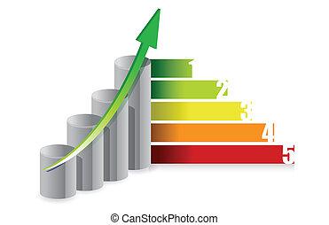 graph colorful illustration design