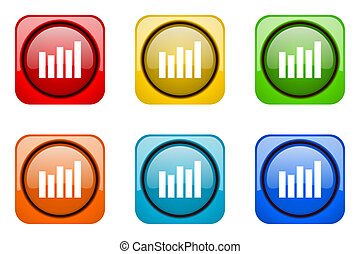 graph colorful web icons