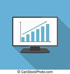 graph, computer, bar