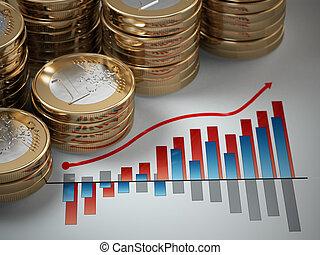 graph., concept., 은 화폐로 주조한다, 재정, 유러