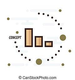 Graph concept brown color