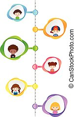 Graph design with happy children